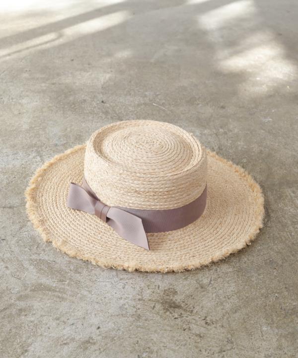 【Spring Collection 2021掲載商品】フリンジラフィアブレードハット