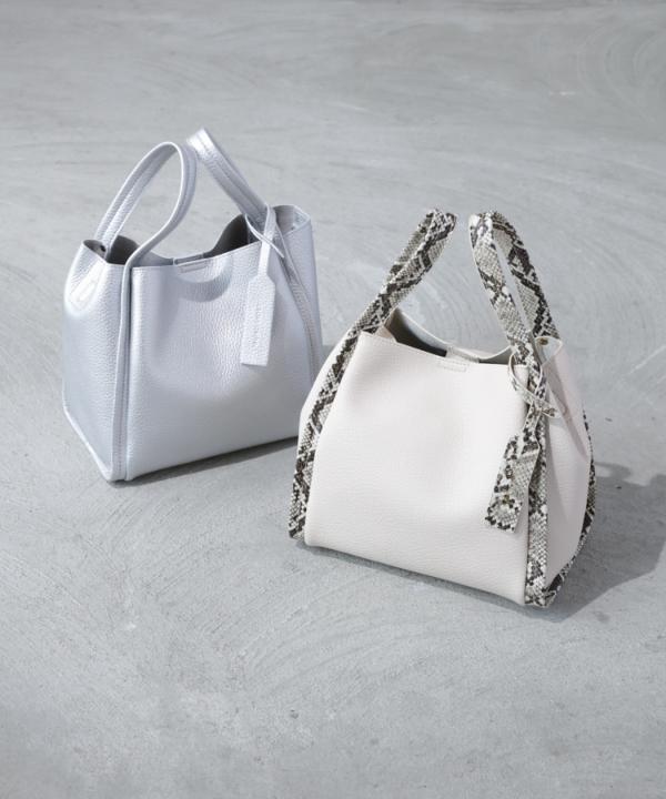 【Spring Collection 2021掲載商品】ミニショルダー付きソフトレザー調BAG