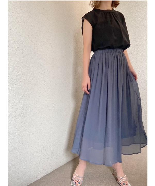 ヘリンボーンギャザースカート