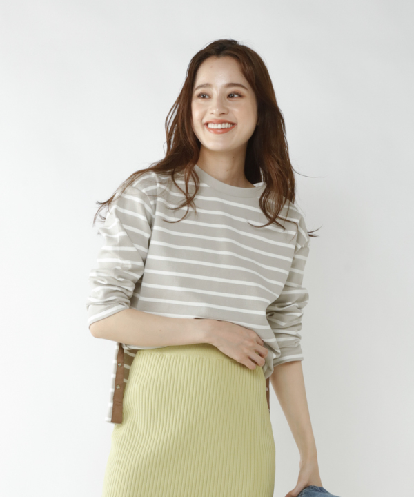 【Spring Collection 2021掲載商品】ボーダーポンチカットソー