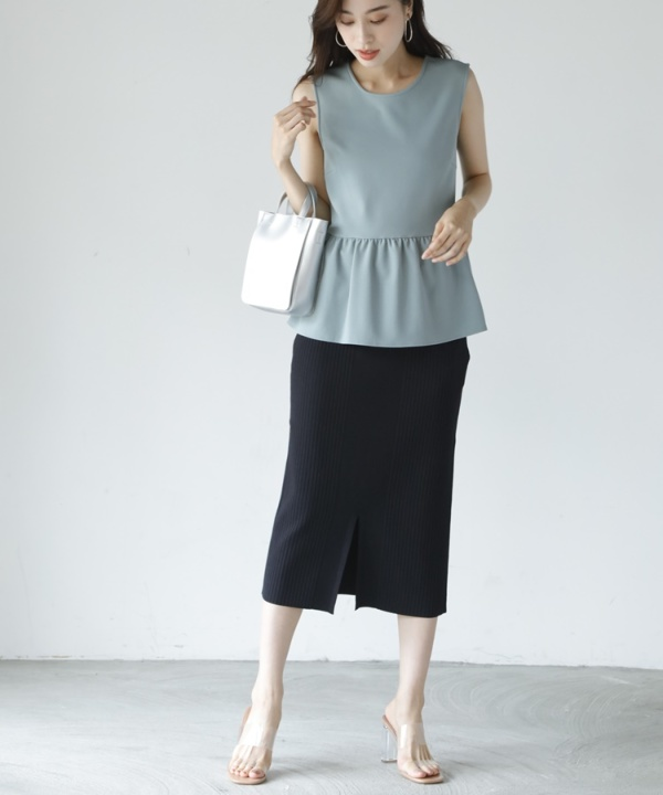 【Spring Collection 2021掲載商品】2wayニットタイトスカート