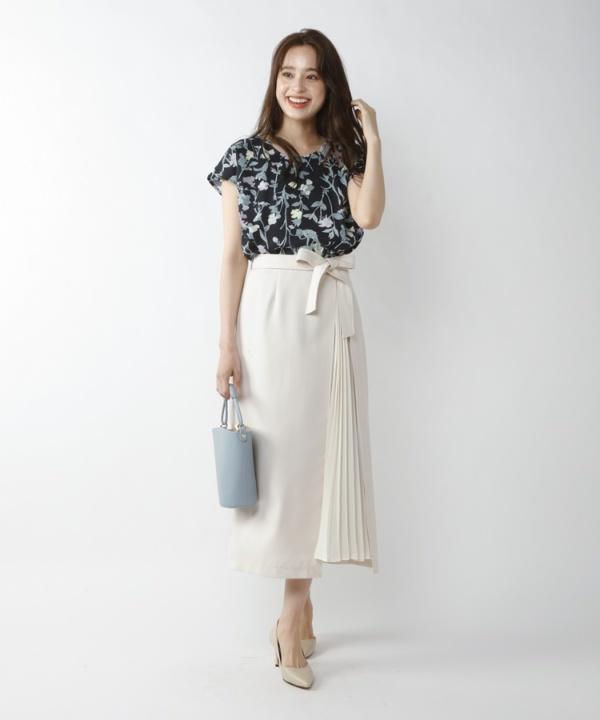 【Spring Collection 2021掲載商品】デニムプリーツスカート