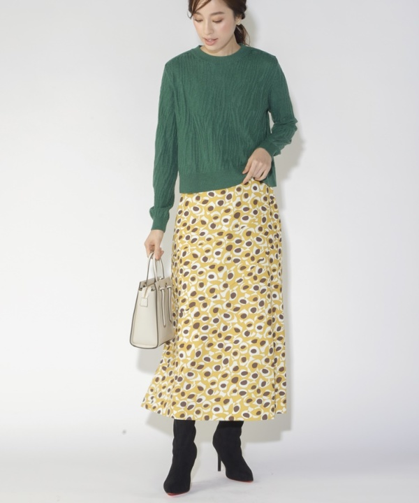 【A/W COLLELCTION 2021掲載】ジオメトリックプリントスカート