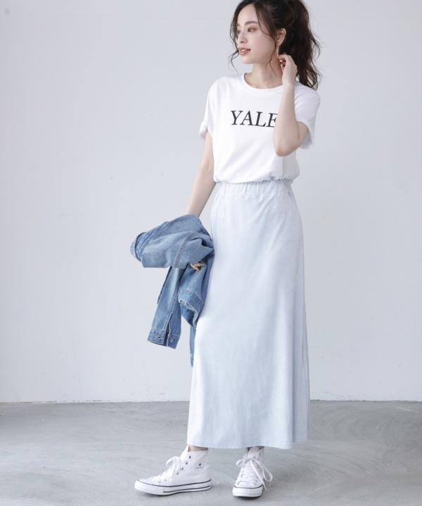 【Spring Collection 2021掲載商品】スエードセミフレアスカート