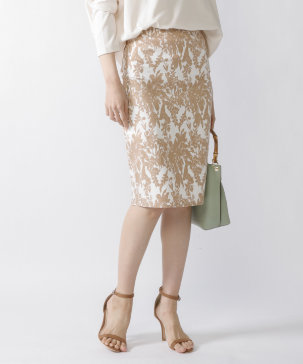 【Spring Collection 2021掲載商品】ボタニカルジャガードタイトスカート